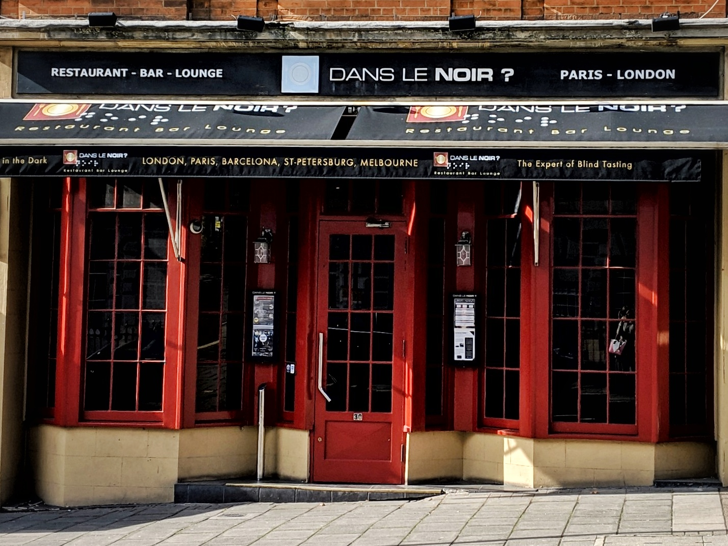 Dans Le Noir? Restaurant in Clerkenwell, London