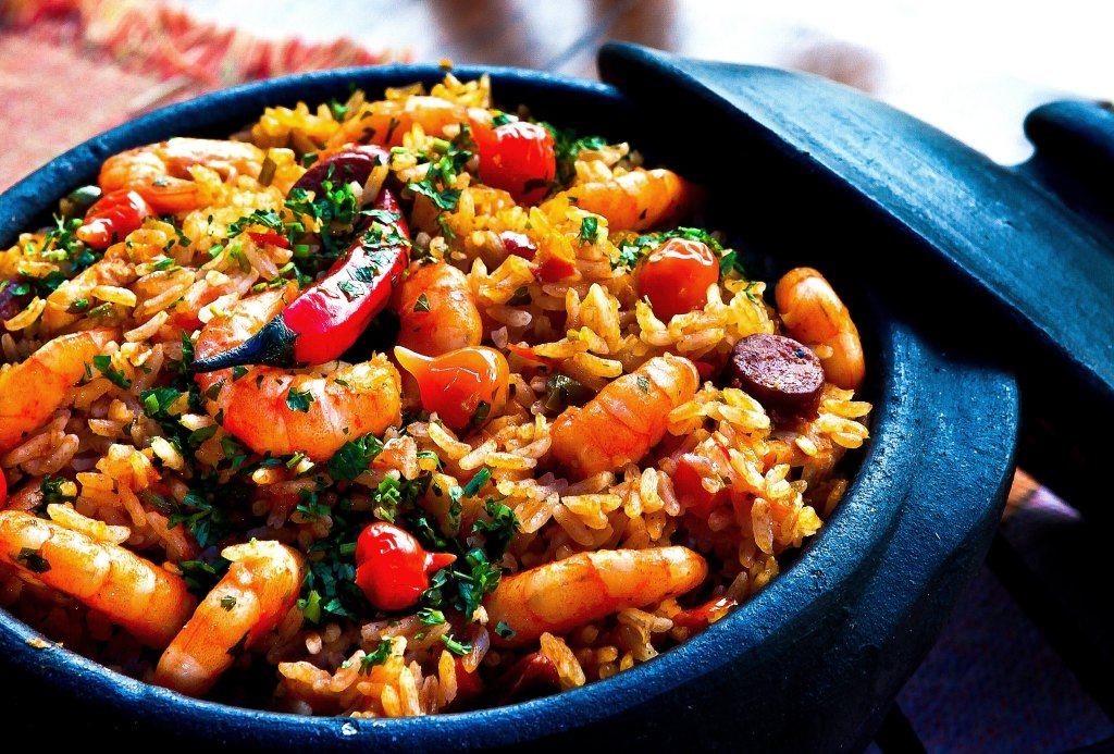 Spanish Paella Rice Dish With Prawns and Chillies by Cel Lisboa